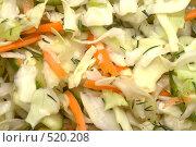 Купить «Капустный салат», фото № 520208, снято 31 декабря 2007 г. (c) Наталья Герасимова / Фотобанк Лори