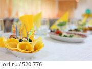 Купить «Сервировка праздничного стола», фото № 520776, снято 19 сентября 2008 г. (c) Vdovina Elena / Фотобанк Лори