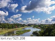 Купить «Гродно вид с моста на реку Неман», фото № 521208, снято 13 сентября 2007 г. (c) Андрей Ветров / Фотобанк Лори