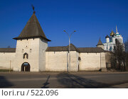 Купить «Псков.Стена Кремля и Троицкий собор.», фото № 522096, снято 5 апреля 2008 г. (c) АЛЕКСАНДР МИХЕИЧЕВ / Фотобанк Лори