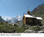 Часовня в горах (2008 год). Редакционное фото, фотограф Елена Чердынцева / Фотобанк Лори