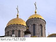 Купить «Купола храма. Владимир», фото № 527020, снято 28 сентября 2008 г. (c) Андрей Старостин / Фотобанк Лори