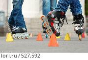 Слалом на роликовых коньках. Стоковое фото, фотограф Егор Архипов / Фотобанк Лори