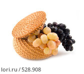 Купить «Корзинка с виноградом», фото № 528908, снято 18 октября 2018 г. (c) Коннов Леонид Петрович / Фотобанк Лори