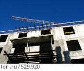 Купить «Строительство дома. Укрепление балконов», фото № 529920, снято 15 октября 2008 г. (c) Юлия Подгорная / Фотобанк Лори