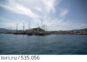Купить «Вид на турецкий курорт Мармарис с воды», фото № 535056, снято 4 мая 2007 г. (c) Алексей Зарубин / Фотобанк Лори