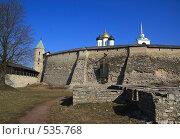 Купить «Псков. Стена Кремля и Троицкий собор», фото № 535768, снято 5 апреля 2008 г. (c) АЛЕКСАНДР МИХЕИЧЕВ / Фотобанк Лори