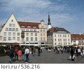 Ратушная площадь в Таллине (2008 год). Редакционное фото, фотограф Алла Виноградова / Фотобанк Лори