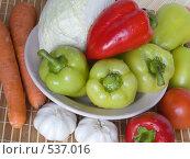 Купить «Свежие овощи», фото № 537016, снято 6 сентября 2008 г. (c) Яков Филимонов / Фотобанк Лори
