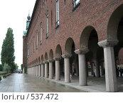 Колонны ратуши Стокгольма (2008 год). Стоковое фото, фотограф Игорь Михновец / Фотобанк Лори