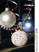 Купить «Новогодние украшения, елочные игрушки», фото № 537596, снято 28 октября 2008 г. (c) Логинова Елена / Фотобанк Лори