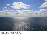 Купить «Морской пейзаж с облаками», эксклюзивное фото № 537872, снято 14 сентября 2008 г. (c) Дмитрий Неумоин / Фотобанк Лори