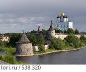 Купить «Кремль в Пскове», фото № 538320, снято 25 июня 2008 г. (c) Александр Кузовлев / Фотобанк Лори