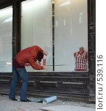 Купить «Оформление витрины», фото № 539116, снято 2 ноября 2008 г. (c) Назаренко Ольга / Фотобанк Лори
