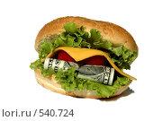 Денежный гамбургер. Стоковое фото, фотограф Марина Кириленко / Фотобанк Лори
