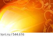 Купить «Золотая цветочная рамка», иллюстрация № 544616 (c) ElenArt / Фотобанк Лори