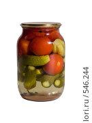 Купить «Консервированные помидоры и огурцы», фото № 546244, снято 25 октября 2008 г. (c) Андрей Короткевич / Фотобанк Лори