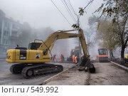Дорожные работы (2008 год). Редакционное фото, фотограф Андреев Виктор / Фотобанк Лори