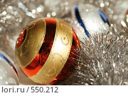 Купить «Новогодние украшения и мишура», фото № 550212, снято 3 ноября 2008 г. (c) Логинова Елена / Фотобанк Лори