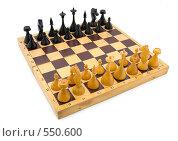 Купить «Начало шахматной партии», фото № 550600, снято 8 ноября 2008 г. (c) Андрей Рыбачук / Фотобанк Лори