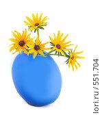 Купить «Букет в голубой вазе», фото № 551704, снято 18 октября 2018 г. (c) Коннов Леонид Петрович / Фотобанк Лори