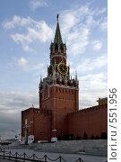 Купить «Спасская башня Кремля», фото № 551956, снято 1 марта 2008 г. (c) Юрий Назаров / Фотобанк Лори