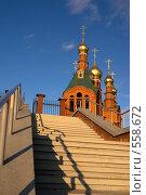 Купить «Краснокаменск. Церковь Спаса Нерукотворного», фото № 558672, снято 2 ноября 2008 г. (c) Julia Nelson / Фотобанк Лори