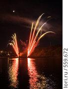 Купить «Международный фестиваль фейерверков. Чебоксары», фото № 559672, снято 19 августа 2018 г. (c) Евгений Большаков / Фотобанк Лори