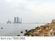 Купить «Добыча нефти недалеко от Баку. Азербайджан.», фото № 560060, снято 4 ноября 2008 г. (c) Алексей Зарубин / Фотобанк Лори