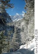 Купить «Вид на вершину Уилпата, замыкающую Цейское ущелье», фото № 562028, снято 21 мая 2018 г. (c) Rogal Anna / Фотобанк Лори