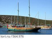 Купить «Яхты у островов в Эгейском море», фото № 564976, снято 18 июня 2019 г. (c) ElenArt / Фотобанк Лори