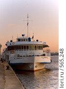 Купить «Корабль у причала», фото № 565248, снято 9 ноября 2008 г. (c) Елена Прокопова / Фотобанк Лори