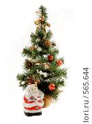 Купить «Новогодняя елка и Дед Мороз», фото № 565644, снято 16 ноября 2008 г. (c) Юрий Беляков / Фотобанк Лори