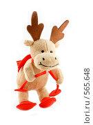 Купить «Веселый Рождественский Лось», фото № 565648, снято 16 ноября 2008 г. (c) Юрий Беляков / Фотобанк Лори