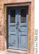 Купить «Греция, остров Санторини, дверь дома», эксклюзивное фото № 565832, снято 11 августа 2008 г. (c) Яна Королёва / Фотобанк Лори