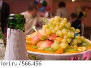 Купить «Шампанское и фрукты», фото № 566456, снято 14 ноября 2008 г. (c) Олег Гуличев / Фотобанк Лори