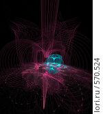 Купить «Красный луч», иллюстрация № 570524 (c) Parmenov Pavel / Фотобанк Лори