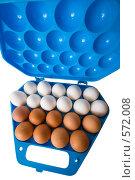 Купить «Яйца куриные в контейнере», фото № 572008, снято 19 ноября 2008 г. (c) Федор Королевский / Фотобанк Лори