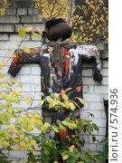 Купить «Конец сезона.Огородное пугало на отдыхе.», фото № 574936, снято 16 октября 2007 г. (c) Gagara / Фотобанк Лори
