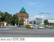 Купить «Башня Кремля в нижнем Новгороде», фото № 579708, снято 17 июля 2006 г. (c) Корчагина Полина / Фотобанк Лори