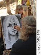 Создание портрета (2007 год). Редакционное фото, фотограф Ivan I. Karpovich / Фотобанк Лори