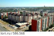 Купить «Вид на город Волгоград с высоты птичьего полета», фото № 586568, снято 23 августа 2005 г. (c) Денис Дряшкин / Фотобанк Лори