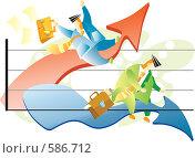 Купить «Кризис: взлет и падение», иллюстрация № 586712 (c) Елисеева Екатерина / Фотобанк Лори