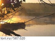 Купить «Северский Донец. Вечер», фото № 587020, снято 30 июня 2007 г. (c) Елена Яворова / Фотобанк Лори