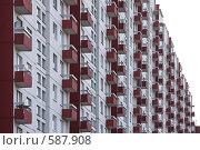 Купить «Балконы жилого дома», фото № 587908, снято 31 октября 2008 г. (c) Юрий Синицын / Фотобанк Лори