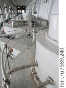 Купить «Машинный зал Волховской ГЭС (Ленинградская область)», фото № 589240, снято 11 мая 2007 г. (c) Александр Секретарев / Фотобанк Лори