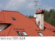 Купить «Современный коттедж», фото № 591624, снято 13 июля 2008 г. (c) Юрий Синицын / Фотобанк Лори