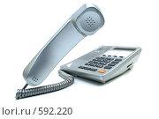 Купить «Серебристый телефон», фото № 592220, снято 24 ноября 2008 г. (c) Валерий Александрович / Фотобанк Лори