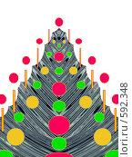 Купить «Новогодняя абстракция. Открытка.», иллюстрация № 592348 (c) Светлана Кудрина / Фотобанк Лори