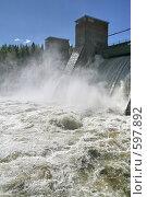 Купить «Лесогорская ГЭС (Ленинградская область)», фото № 597892, снято 17 мая 2007 г. (c) Александр Секретарев / Фотобанк Лори